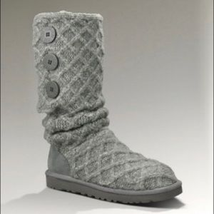 UGG Cardy Lattice Knit Boots